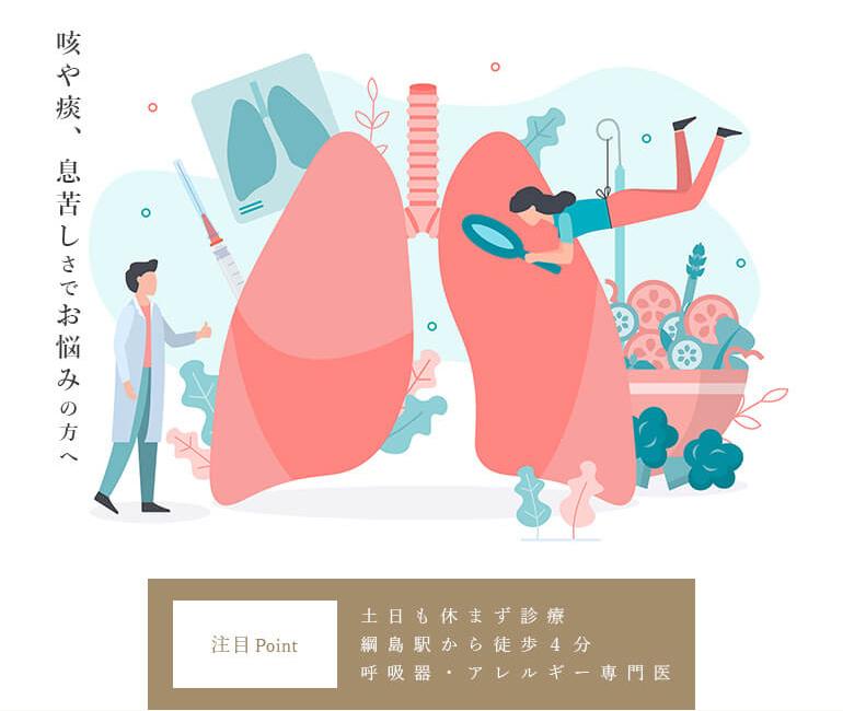 喘息治療Navi 咳や痰、息苦しさでお悩みの方へ