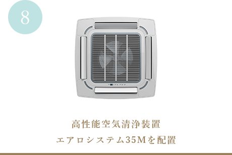高性能空気清浄装置エアロシステム35Mを配置